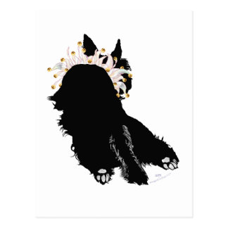Exhausted Scottie Party Animal Postcard