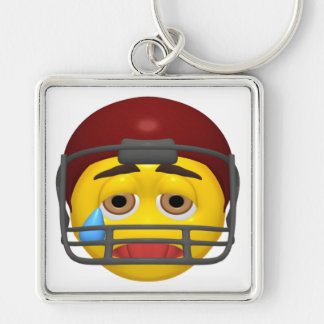 Exhausted Smiley Keychain