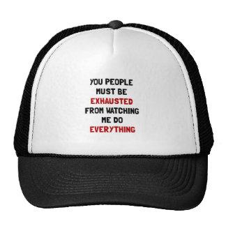 Exhausted Trucker Hat