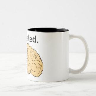 Exhausted Two-Tone Coffee Mug