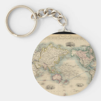 Exhausteds World Map 18 Keychain