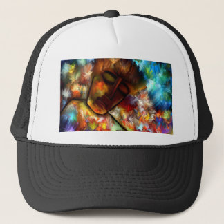 Exhaustion by rafi talby trucker hat