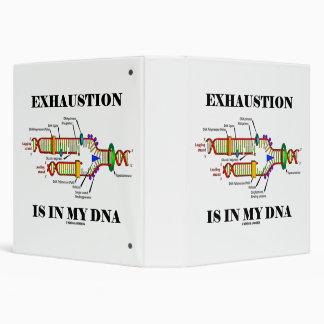 Exhaustion Is In My DNA Genetics Geek Humor Binder