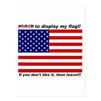 Exhiba la bandera con orgullo postales