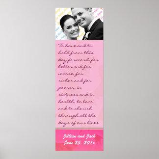 Exhibición color de rosa del recuerdo de los votos poster