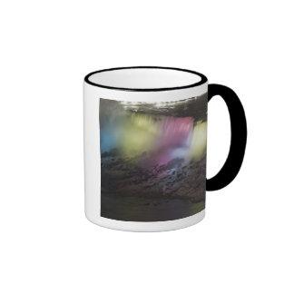 Exhibición coloreada giratoria de la luz en caídas taza a dos colores
