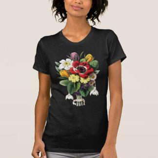 Exhibición colorida T oscuro de las flores del ram Camisetas