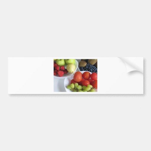 Exhibición de la fruta pegatina para auto