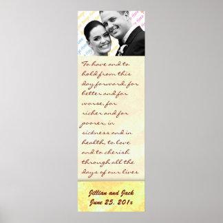 Exhibición de oro de los votos de BODA de la coron Poster