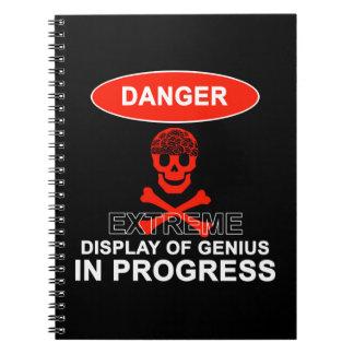 Exhibición del genio libro de apuntes