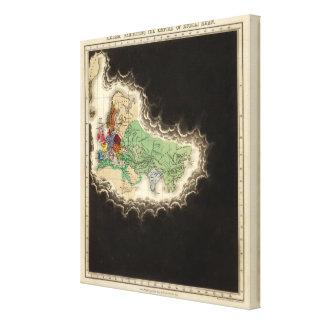 Exhibición del imperio del ANUNCIO 1294 de Kublai  Impresión De Lienzo