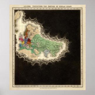 Exhibición del imperio del ANUNCIO 1294 de Kublai  Impresiones