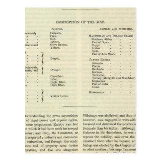 Exhibición del imperio del ANUNCIO 1294 de Kublai Postales