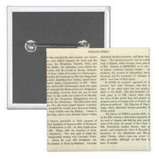 Exhibición del imperio del ANUNCIO 2 de Carlomagno Pin Cuadrada 5 Cm
