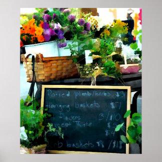 Exhibición del mercado del granjero póster