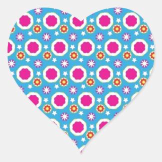 Exhibición elegante pegatina en forma de corazón