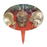 Exhibición encogida del vudú de las cabezas figuras para tartas