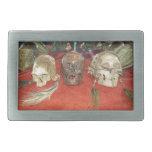 Exhibición encogida del vudú de las cabezas hebillas cinturon rectangulares