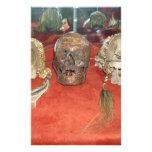 Exhibición encogida del vudú de las cabezas  papeleria de diseño