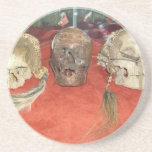 Exhibición encogida del vudú de las cabezas posavasos manualidades