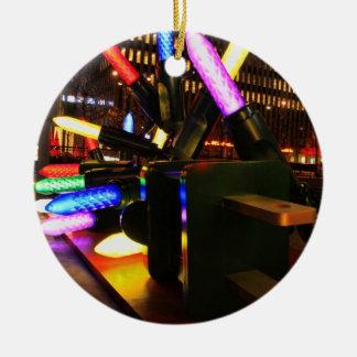 Exhibición enorme 2 de las luces de navidad de la adorno redondo de cerámica