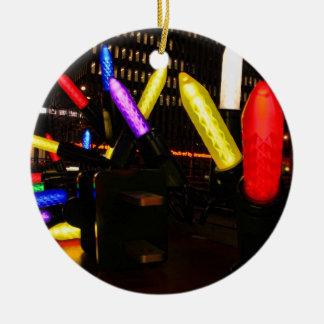 Exhibición enorme de las luces de navidad de la adorno redondo de cerámica