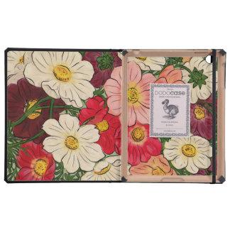 Exhibición floral brillante del estilo del vintage iPad cobertura
