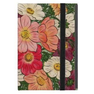 Exhibición floral brillante del estilo del vintage iPad mini protectores