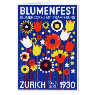 Exhibición floral de 1930 suizos felicitaciones