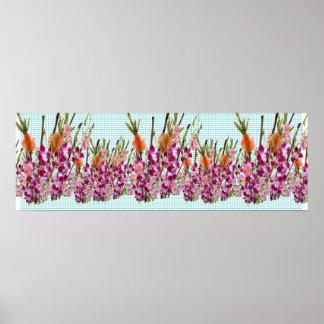 Exhibición floral de Vercordia:   Arte decorativo Póster