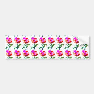 Exhibición floral LINDA: Gráficos de la decoración Etiqueta De Parachoque