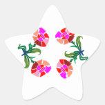 Exhibición floral LINDA: Gráficos de la decoración Calcomanía Forma De Estrella Personalizada