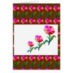 Exhibición floral LINDA: Gráficos de la decoración Tarjeta