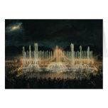 Exhibición iluminada de la fuente tarjeta de felicitación