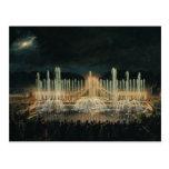 Exhibición iluminada de la fuente tarjeta postal