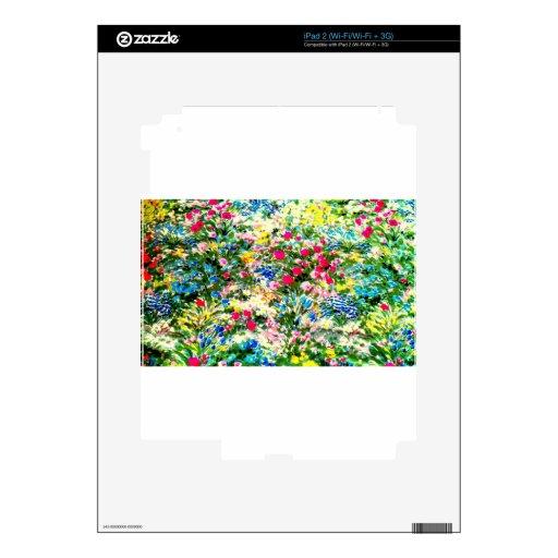 Exhibición impresionante de colores y de flores skin para el iPad 2