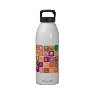 EXHIBICIÓN solamente ICONOS religiosos decorativo Botella De Agua Reutilizable