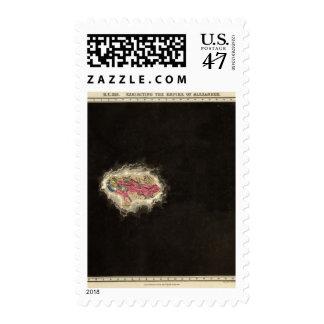 Exhibiendo el imperio de Alexander 323 A.C. Timbres Postales