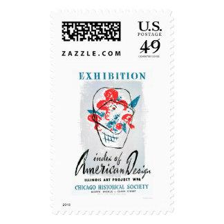 Exhibit American Design 1941 WPA Postage