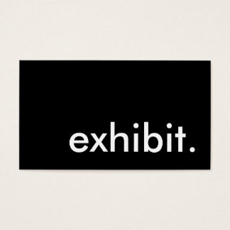 exhibit. (color customizable) business card