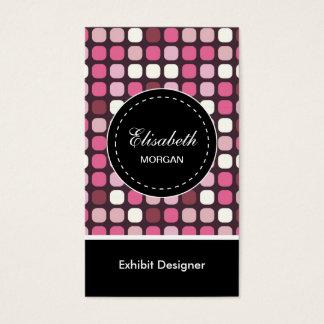 Exhibit Designer- Pink Polka Pattern Business Card