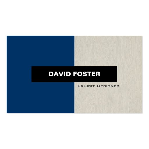 Exhibit Designer - Simple Elegant Stylish Double-Sided Standard Business Cards (Pack Of 100)