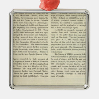Exhibiting The Empire of Charlemagne 814 AD 2 Christmas Tree Ornament