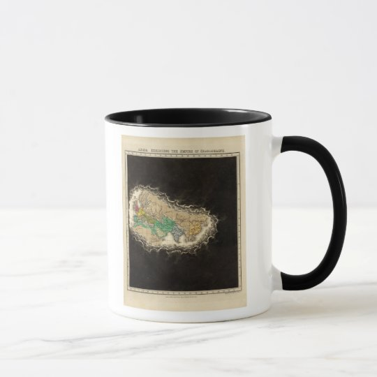 Exhibiting The Empire of Charlemagne 814 AD Mug