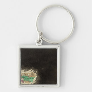 Exhibiting The Empire of Cyrus 529 BC Silver-Colored Square Keychain