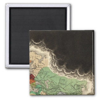 Exhibiting The Empire of Kublai Khan 1294 AD 2 Inch Square Magnet