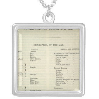 Exhibiting The Empire of Kublai Khan 1294 AD Square Pendant Necklace