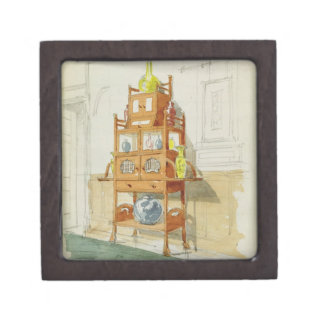 Exhibition Cabinet, c.1860s-70s (w/c & pencil on p Gift Box