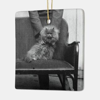 Exhibition Cat Club - Mondial 493 Ceramic Ornament