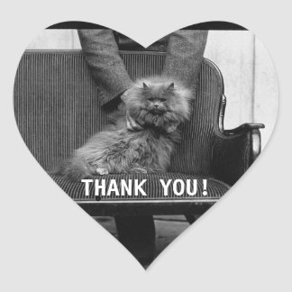Exhibition Cat Club - Mondial 493 | Thank you Heart Sticker